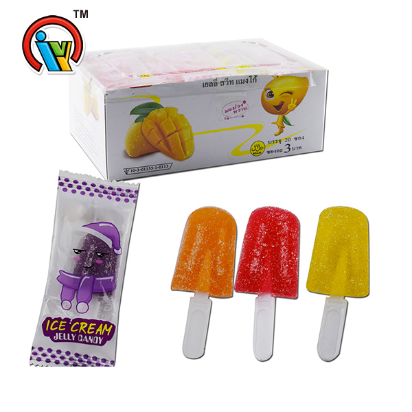 ice cream shape fruity gummy candy soft candy