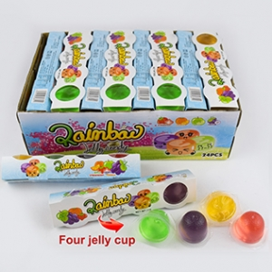 Hot sale four Jelly cup candy