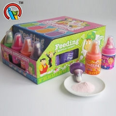 lollipop candy with powder candy in feeding bottle
