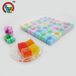 Nice packing gift box square gummy candy jelly candy