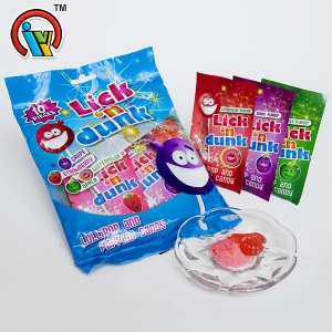 Hand shape lollipop with magic popping candy