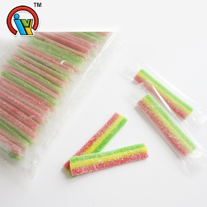 Three flavor sour gummy belt candy soft candy