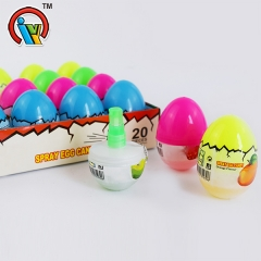 Egg shape fruity spray candy