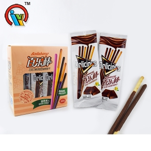 Fruity flavor long chocolate biscuit stick