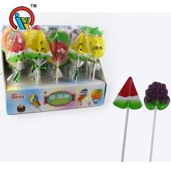 fruit shape lollipop hard candy