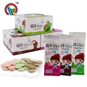 Good sell fruity tablet candy pressed candy supplier
