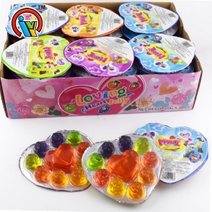 Loving heart flower shape jelly candy