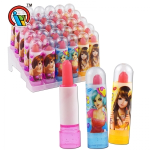 Lipstick lollipop hard candy