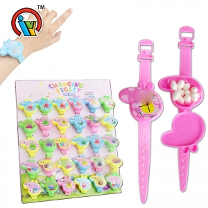 Cute piggy watch toy candy for kid