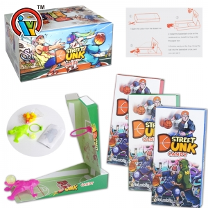 Paper assemble toy candy with tattoo