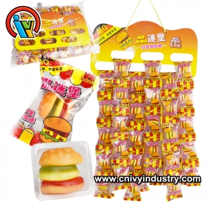 Factory Direct Good Taste Hamburger Gummy Candy For Sale