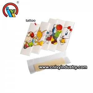 Popular Fruity Flavor Bubble Gum With Tattoo