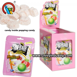 Fruity Flavor Tablet Candy Inside Popping Candy