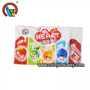 fruity 5 in 1 heart to heart lollipop candy