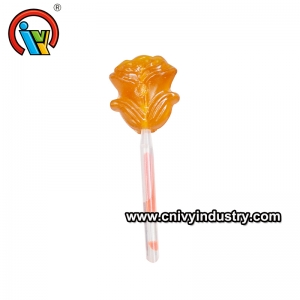 Rose Fluorescence Lollipop with popping candy