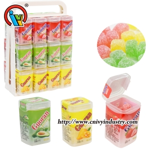 Wholesale Confectionary Square Shape Gummy Candy