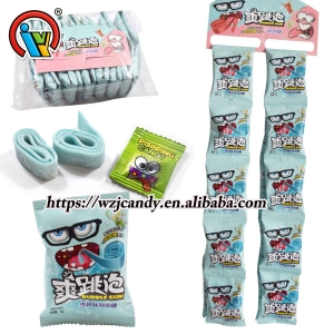Roll Bubble Gum With Popping Candy